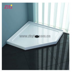 El FRP plato de ducha de fibra de vidrio con resina de fibra de vidrio de la parte inferior