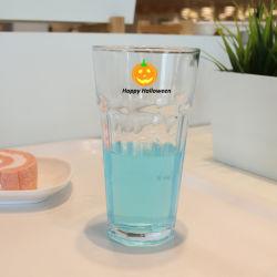 Compagnie aérienne claire haute capacité de l'eau potable de boissons personnalisés en verre de jus