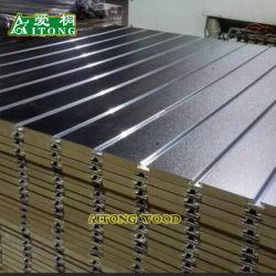 MDF ranurada Panel de pared 3D / MDF ranurada con aluminio de 0,5 mm