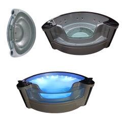 3 personne Design élégant massage spa une baignoire à remous-3348 Tempered-Glass porte (M)