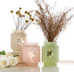 작은 다채로운 유리제 화병 유리제 촛대 별 유리제 Tealight 유리제 촛대