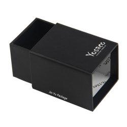 Commerce de gros cadeau rigide personnalisé Papier noir Bijoux tiroir Emballage