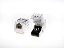Cat. 3 6p4c телефонный кабель UTP с возможностью доступа к разъему Keystone, 90 градусов