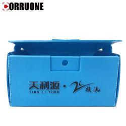 Plegado de PP o Correx ondulado Caja de almacenamiento y envío de verificación
