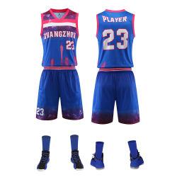 Uniformi di pallacanestro sublimate abitudine stabilita di disegno di Short della Jersey di pallacanestro della squadra degli abiti sportivi della gioventù