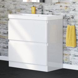 Suelo de 800mm en color blanco de la unidad de vanidades de baño y cuarto de baño moderno de Cuenca