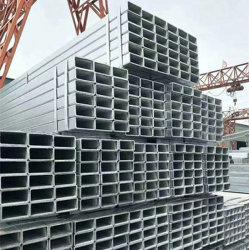 Usine DIP à chaud de gros tube carré en acier pour la construction de métal