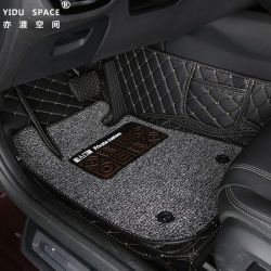 Commerce de gros personnalisé en cuir antiglisse Bobine de fil en PVC 5D'accessoire de voiture