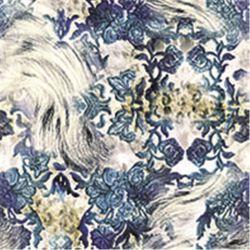 De Digitale Druk van de bloem op de Stoffen van de Zijde (sz-0099)