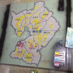 Granito pietra Terra Mappa incisione pietra