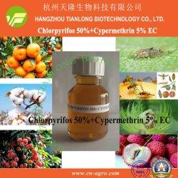 Cypermethrin 5%+Chlorpyrifos 50% EG-Cypermethrin+chlorpyrifos (5%+50%) - het mengsel van het Insecticide