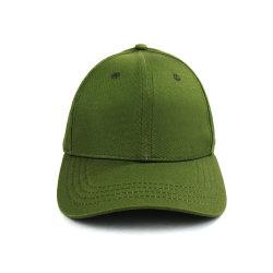 올리브 녹색 야구 모자 100%Cotton 6 위원회 공 모자