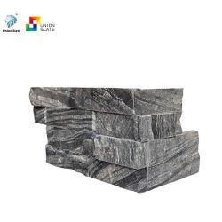طبيعيّ [ستون ولّ] حجارة أركان مع [نرورل] سطح
