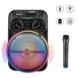 Máquina de Karaoke Bluetooth con subwoofer de 12 pulg.