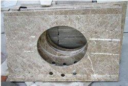 Chinois bon marché pour la salle de bains en granit naturel Vanitytop Comptoir de cuisine