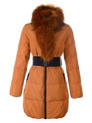 贅沢な実質のキツネの毛皮カラー細いボディジャケット