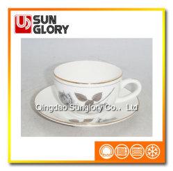 Insiemi di caffè della porcellana con il filetto di Gloden di Bd045