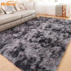 Casa en vivos colores decorativos alfombra suave terciopelo Shaggy para la venta
