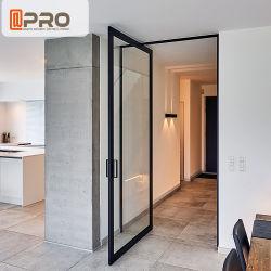 Популярный открытый алюминиевый автоматическое Двойной шарнир поворотного кухня стекла задней двери