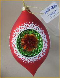 Vidro de Natal em forma de azeitona artesanato para decoração de Árvore
