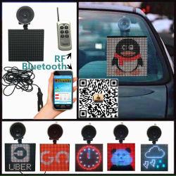 des Zoll 5X5 intelligente Bluetooth APP-Elektronik-programmierbare Absaugung-Cup-hinteren Fenster-LED Zeichen Auto-der Bildschirmanzeige-LED