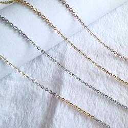 catena del cavo della traversa O del polacco dell'acciaio inossidabile dei monili della collana dell'oro 18K