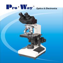 40X-1000X LED, das binokulares biologisches Mikroskop (XSZ-PW107, schiebt)