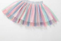 리틀 걸즈 컬러풀한 튤레 스커트 키즈 캐주얼 투투 스커트 패션 파티 패션 의류 에스가16562