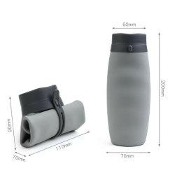 La silicona de la Copa de viaje plegable botellas plegables contenedores ligero para acampar al aire libre