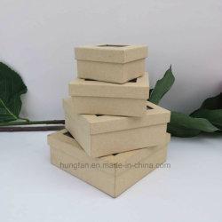 Дружественность к окружающей среде природных коричневый крафт-бумаги подарочной упаковки коробки с окна из ПВХ