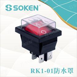 照らされたDpstのロッカースイッチを防水しなさい