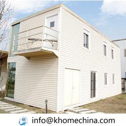 Contenitore di due piani dell'ufficio con il pavimento di legno