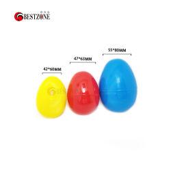 Oeufs de Pâques en plastique de couleur unie