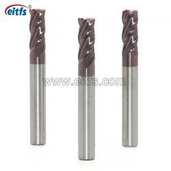 Hoge Prestaties 4 Scherpe Hulpmiddelen van de Molen van het Eind van het Carbide van de Fluit de Stevige voor het Malen van het Metaal
