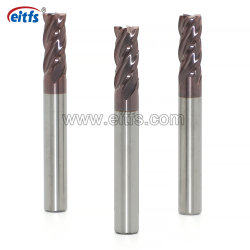 Frese del carburo solido della scanalatura di rendimento elevato 4 per la macinazione del metallo