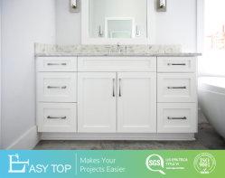 Agitador tocadores de baño moderno de color blanco con asa metálica cajón y puerta del armario