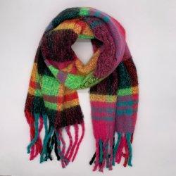 Aw20 lenço de Inverno com novo design e tecidos de lenço de arco-íris