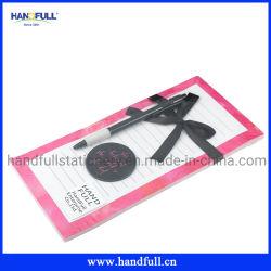 Bloc de notas adhesivas de promoción de las notas adhesivas personalizadas con logotipo personalizado