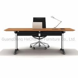 Verre robuste et élégant en bois Table de direction Accueil Mobilier de bureau moderne chinoise