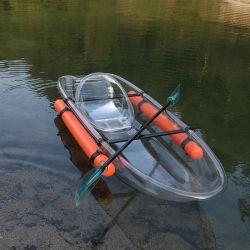 Os fabricantes de canoa para 2 pessoas a fibra de carbono Ocean caiaque de PC transparente