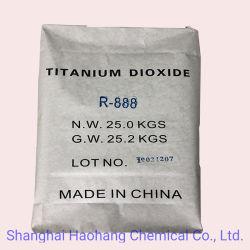 El rutilo Dióxido de titanio rutilo R-888 polvo blanco