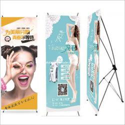 Bannière d'affichage de la publicité extérieure souple cosmétique de l'équipement d'exposition X Bannière de statif