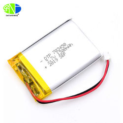 Der Dtp-1300mAh Batterie Lithium-Plastik-bewegliche nachladbaren Batterie-3.7V Dtp703450