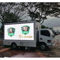 フルカラーの屋外6000nits LEDビデオスクリーンは、広告のための移動式P5.95mm LED表示をトラックで運ぶ