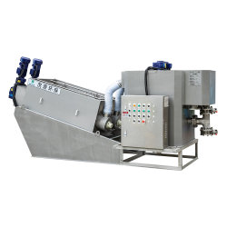 Kosteneffectief systeem voor automatische sludge-ontwatering voor afvalwaterbehandeling