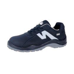 Entreprise de mode S3 Hommes Chaussures de sécurité les chaussures en cuir nubuck noir PU+PU Semelle d'injection Women Action Hot Sale Low-Cut de haute qualité (SN6021)