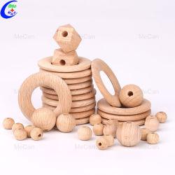 중국 제조자 주문 아이들의 이 도넛 나무로 되는 구슬