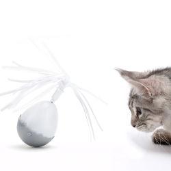 Het in het groot Nieuwe Elektrische Slimme Plastic Zachte (interactieve) Stuk speelgoed van de Bal voor de Hond van de Kat van het Huisdier
