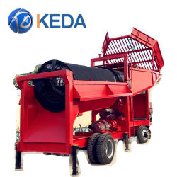 preço de fábrica Placer Máquina de Mineração 50/100/200 Tph Gold Trommel Plantas Lavar /ecrã