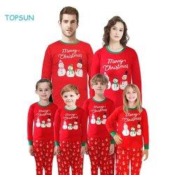 De hete Katoenen van de Nachtkleding van de Kerstman van de Sneeuwman van Kerstmis Pyjama's van de Familie